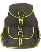 Topshop Neon Trim Denim Backpack - Lyst