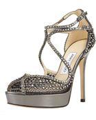 Jimmy Choo Fairview Crystal-mesh Platform Sandal - Lyst