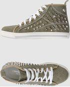 Pierre Darre' High-Top Sneakers - Lyst