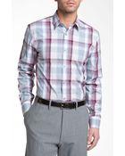 Calibrate Trim Fit Stretch Cotton Sport Shirt - Lyst