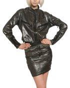 Anthony Vaccarello Strapless Laminated Viscose Cady Jacket - Lyst