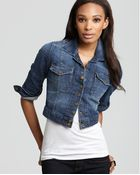 Current/Elliott Jacket - The Snap Jacket In Loved Wash - Lyst