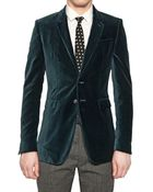 Burberry Prorsum Compact Velvet Fitted Jacket - Lyst