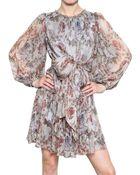 Dolce & Gabbana Printed Silk Crepon Dress - Lyst