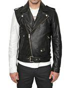 Marc Jacobs Asymmetrical Hammered Leather Jacket - Lyst