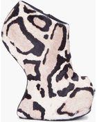 Giuseppe Zanotti Leopard Calfhair Jem Wedges - Lyst