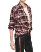Etoile Isabel Marant Checked Cotton Flannel Shirt - Lyst