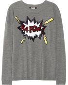 Markus Lupfer Kapow Sequined Merino Wool Sweater - Lyst