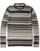 Paul Smith Striped Merino Wool Sweater - Lyst