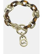 MICHAEL Michael Kors Heritage Link Toggle Bracelet - Lyst