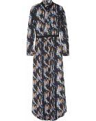 Theyskens' Theory Derra Printed Silk Maxi Dress - Lyst