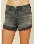 Free People Lacey Denim Cutoff Shorts - Lyst