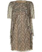 Matthew Williamson Natural Beaded Frill Silk Dress - Lyst