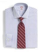 Brooks Brothers Supima Cotton Noniron Regular Fit Shadow Tattersall Dress Shirt - Lyst