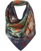 Topshop Underwater Colour Silk Scarf By Beta - Lyst