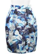 Mary Katrantzou Mini Corolla Skirt in Silk with Allover Digital Print - Lyst