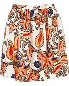 Topshop Giant Paisley Full Skirt - Lyst