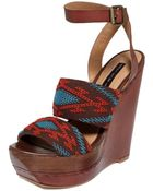 Steve Madden Bernidet Platform Wedge Sandals - Lyst