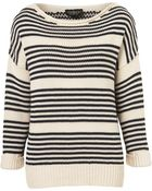 Topshop Knitted Breton Jumper - Lyst