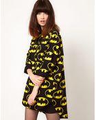 Lazy Oaf X Batman Oversized Shirt in Bat Logo Print - Lyst
