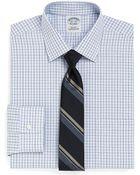 Brooks Brothers Supima Cotton Noniron Extraslim Fit Mini Endonend Check Dress Shirt - Lyst