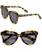 Karen Walker Number One Tortoise Acetate Cat'S-Eye Sunglasses - Lyst