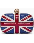 Alexander McQueen Classic Britannia Skull Clutch Box - Lyst