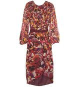 Giambattista Valli Silk Flower Print Dress - Lyst