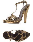 Roberto Cavalli Platform Sandals - Lyst