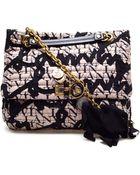 Lanvin Happy Quilted Silk Monogram Bag - Lyst