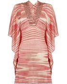 Missoni Mare Embellished Striped Kaftan - Lyst
