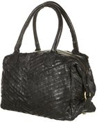 Topshop Striped Leather Holdall - Lyst