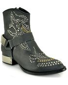 Jeffrey Campbell Presley Black Leather Ankle Bootie - Lyst