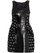 Marc Jacobs Medallion Tweed And Leather Dress - Lyst