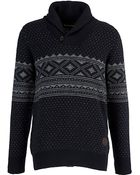 Barbour Barbour Witham Shawl Neck Jumper Navy - Lyst