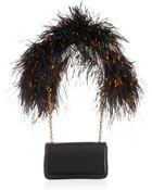 Christian Louboutin Artemis Featherembellished Shoulder Bag - Lyst