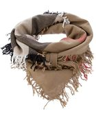 Burberry Check Scarf - Lyst