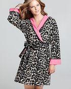 Betsey Johnson Microfleece Hooded Robe - Lyst