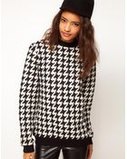 ASOS Collection Asos Sweatshirt in Quilted Dogtooth - Lyst