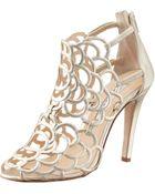 Oscar de la Renta Gladia Metallic Sandal - Lyst