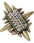 Topshop Spiked Chain Ring - Lyst