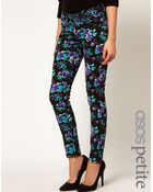 Asos Petite Exclusive Skinny Jeans in Winter Floral Print - Lyst