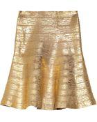 Hervé Léger Coated Bandage Skirt - Lyst