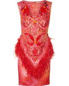 Matthew Williamson Swarovski Crystalembellished Printed Silk Dress - Lyst