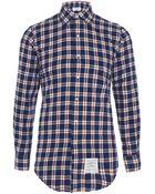 Thom Browne Check Shirt - Lyst