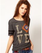 True Religion Love Tee with Short Sleeves - Lyst