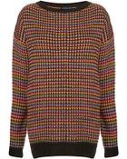 Topshop Knitted Rainbow Texture Grunge Jumper - Lyst