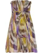 Matthew Williamson Printed Silkchiffon Dress - Lyst
