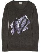 Markus Lupfer Heart Sequin Embellished Merino Wool Sweater - Lyst