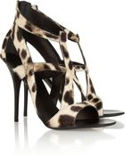 Giuseppe Zanotti Leopardprint Calf Hair Sandals - Lyst
